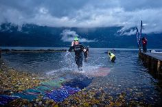 Norseman Xtreme Triathlon.  Norseman is the world's toughest long-distance distance triathlon. It is also the most northern, taking place at the same latitude as Anchorage in Alaska. The race is a travel through some of the most beautiful parts of Norway. Photo by Jorgen Melau, via Flickr