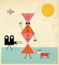 Pinzellades al món: Les il·lustracions d'Eric Comstock: geometria i color