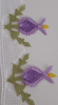 Havlu Crochet Borders, Filet Crochet, Crochet Patterns, Point Lace, Needle Lace, Bargello, Hand Embroidery, Projects To Try, Cross Stitch