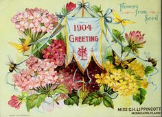 086-flowers, flag, decoration, insects   ...