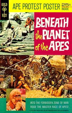 ronaldcmerchant:  BENEATH THE PLANET OF THE APES (1970) comic and poster
