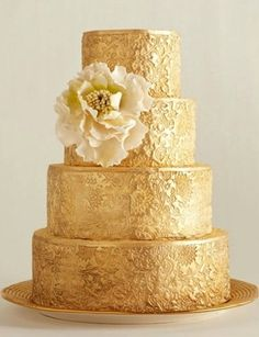 CAKES FOR GOLD WEDDING - Google Search