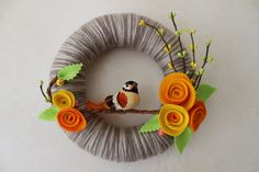 Spring Bird Wreath - adorbs!!