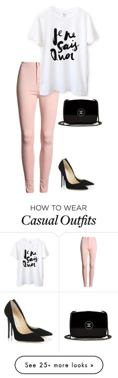 """NY CASUAL/COLLEGE"" by marta-isabella on Polyvore featuring Jimmy Choo and Chanel"