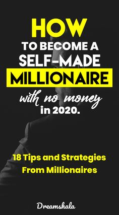 Own Business Ideas, Starting Your Own Business, Self Made Millionaire, Become A Millionaire, Way To Make Money, Make Money Online, How To Get Rich, How To Become, Some Motivational Quotes