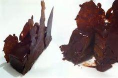 masterchef 2011 gold bar chocolate recipe reardon how to cook that Gold Bar Chocolate, Chocolate Topping, Chocolate Glaze, Chocolate Desserts, British Desserts, Purple Desserts, Kreative Desserts, Masterchef Recipes, Sweets