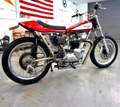 1963 Triumph 750 Flat track racing motorcycle on GovLiquidation.  This bike was built and ridden by Hollywood stunt man, Gary Davis. It's street legal!