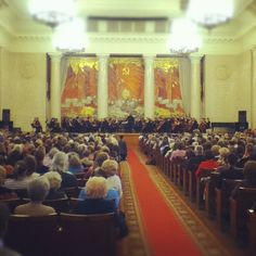 Mariinsky Orchestra & Valery Gergiev at the Moscow State University on 25 September 2012. Photo by @shum_shum_shum.
