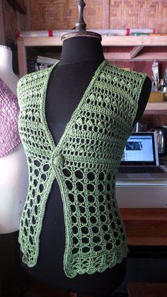 Ideas For Crochet Lace Vest Pattern Free Libraries Gilet Crochet, Crochet Vest Pattern, Crochet Jacket, Crochet Cardigan, Crochet Shawl, Knitting Patterns Free, Knit Crochet, Crochet Patterns, Crochet Summer