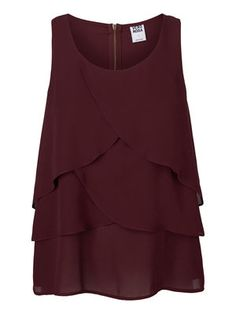 LAYERED SLEEVELESS BLOUSE - Vero Moda
