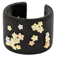 Stambolian Stingray Diamond Gold Cuff Bracelet 1