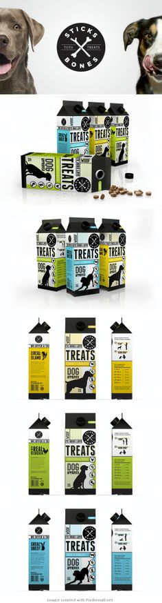 Sticks and Bones Dog Treat Packaging