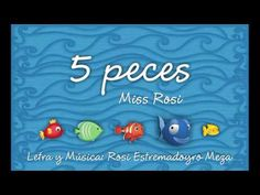 5 peces - MIss Rosi - YouTube Spanish, Math, Videos, Kids Songs, Fish Activities, Activities For Kids, Nursery Rhymes, Preschool Songs, Music And Movement