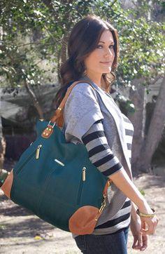 "$169.99Timi  Leslie 'Kate' Faux Leather Diaper Bag | Nordstrom - 17""W x 13 1/2""H x 6 1/2""D"