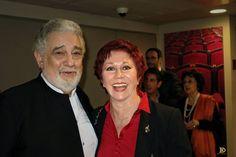 María Uriz con Pácido Domingo