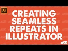 How-to Create a Seamless Repeating Patterns in Adobe Illustrator Tutorial - YouTube