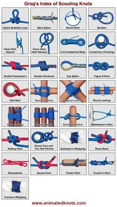 Grog's Index of Scouting Knots, click one and an animation shows you how it's tied.... More