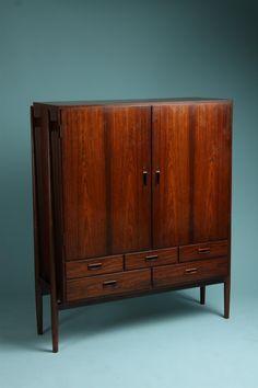 Cabinet designed by Arne Vodder, Denmark, 1950's. Rosewood.