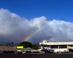 A rainbow on my way home from the Honolulu Airport.