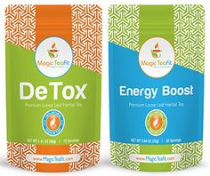 Organic DeTox and Energy Boost Teatox  Weight Loss Body Cleanse Appetite Control Tasty TOP Quality Unique Blend All Natural from Magic Teafit -- Click on the image for additional details.
