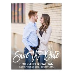 Modern Portrait Picture Save The Date Postcard - tap, personalize, buy right now! #save #the #date #postcards #wedding Modern Save The Dates, Save The Date Photos, Save The Date Postcards, Wedding Save The Dates, Post Wedding, Diy Wedding, Rustic Wedding, Dream Wedding, Wedding Ideas