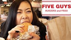 Chinese Girl Tries 5 Guys Burgers and Fries