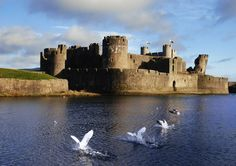 Caerphilly Castle. Caerphilly, Wales