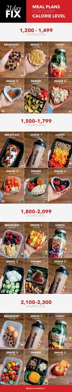 If you're on the 21 Day Fix meal plan, check out these quick and easy meal prep ideas for every calorie level. (1200 calories a day products)