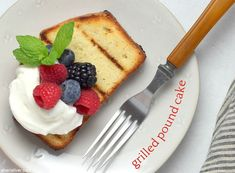 How does classic pound cake get next level? It gets GRILLED, that's how. Barbecue Recipes, Summer Desserts, Stick Of Butter, Whole 30 Recipes, Pound Cake, Original Recipe, Gluten Free Recipes, Sweet Treats, Yummy Food