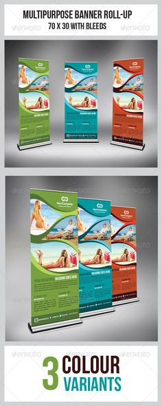 """Tourism Flyer Roll-Up Banner #GraphicRiver This simple and generic Roll-Up template perfectly use for multipurpose Business Roll-Up. Easily edit to fit your needs. Colour : CMYK Files : .psd Size : 70"""" x 30"""" / 150dpi Fully layered Smart object layer to edit images images used are not included. help.txt included for fonts and images used details Fonts used: Myriad Pro .dafont /bebas-neue.font"""