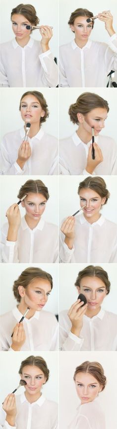 Learn how to contour and highlight your face in these easy steps.