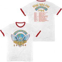 943d73a1a3d Van Halen Tour of the World 1984 with Dates   Cities Concert T-shirt Vintage