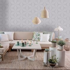 This stylish Geometric Star Wallpaper would make a great statement in most rooms of your home. The design features a retro inspired geometric star pattern in a multi-tonal metallic silver that catches and reflects the light, set on a contrasting matte background in a soft grey shade.