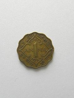 1936 One Quarter Anna Coin India by SongSparrowTreasures on Etsy, $5.00