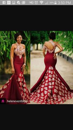 2017 New Arabic High Neck Satin Mermaid Evening Dresses Lace Applique Floor Length Formal … – African Fashion Dresses - African Styles for Ladies African Prom Dresses, African Wedding Dress, African Fashion Dresses, Pageant Dresses, African Dress, Ghanaian Fashion, African Wear, African Weddings, African Style