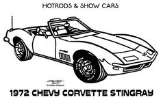 Line Illustrations - Hot Rods & Show Cars by James Jones, via Behance Cars Coloring Pages, Coloring Book Art, Classic Cartoon Characters, Classic Cartoons, Line Illustration, Illustrations, Pyrography Patterns, Car Drawings, Tee Shirt Designs