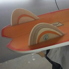 Plywood whit translucent effect in minisimmons. Neyrafins, Neyra custom boards