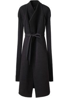 Rick Owens Lilies Neoprene Jersey Coat