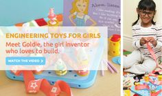 GoldieBlox & the Spinning Machine.  Girls Can Build Things Too!