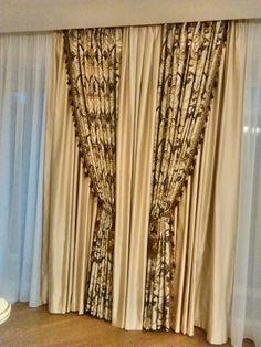 """12/""""  Large Elegant Tassel Tieback Sage Green Invidual Dark Rust Ivory"""