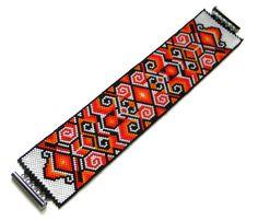 Peyote pattern Fire Dance bracelet pattern bead by Anabel27shop