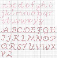 letras simples ponto cruz - Pesquisa Google