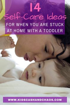 Self Care When You Are Stuck Home with a Toddler - Ideas for activities you can do with your toddler when you are feeling a rundown and overwhelmed.