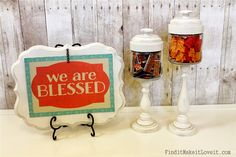 Gratitude Jars & Plaque - Find it, Make it, Love it