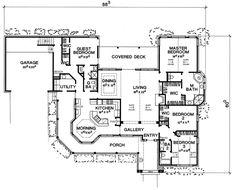 The Crockett House Plan - 5421; 2481 Sq. Ft.