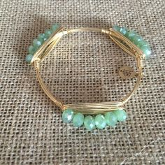 Bourbon and Boweties Green Millie Bangle Standard Wrist $32 and FREE SHIPPING! www.twocumberland.com