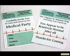Medical Doctor Celebration Party Thank You Cards Print At Home