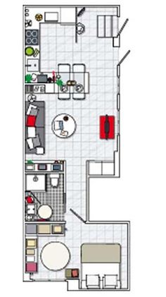 Layout of small apartment