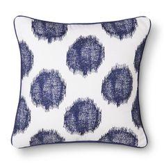 Threshold™ Ikat Dots Decorative Pillow - Navy