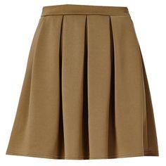 Mini jupe pour un look élégant! 13,00€ ici: http://stylefru.it/s702451 #beige #jupe
